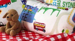 Dekoracja pokoju dla chłopca, tkaniny dekoracyjne do pokoju dla chłopca, pościel do pokoju dla chłopca