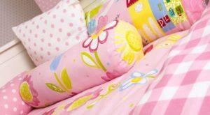 Różowe poduszki do pokoju dla dziewczynki, tkaniny dekoracyjne do pokoju dla dziewczynki, różowe poduszki do pokoju dziecka