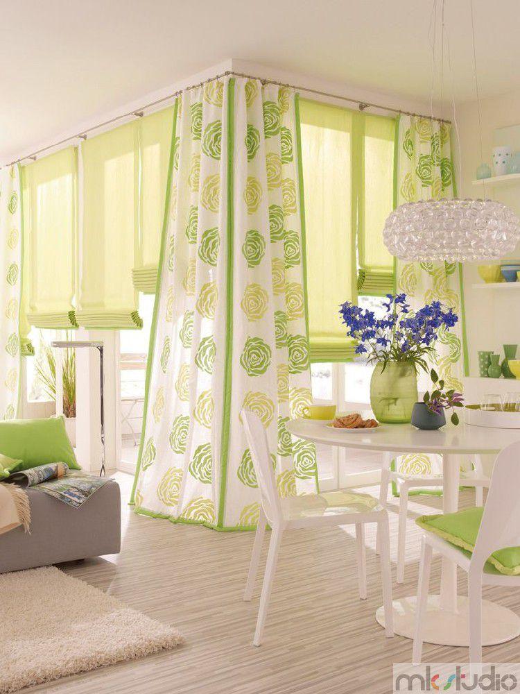 Zasłony rzymskie materiałowe jasne, zasłony rzymskie zielone do salonu,
