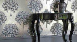 Tapeta dekoracyjna ścienna o motywie roślinnym