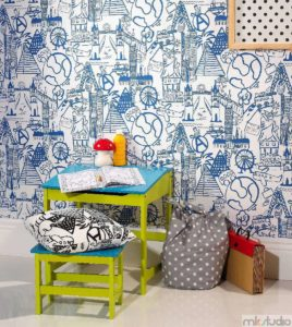 Dekoracje pokoju dziecięcego dla chłopca, tapety do pokoju dla chłopca