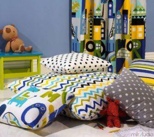 Dekoracje pokoju dziecięcego dla chłopca, pościel i poduszki do pokoju dla chłopca