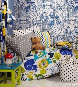 Dekoracje pokoju dziecięcego dla chłopca, aranżacja pokoju dla chłopca, pościel i poduszki do pokoju dla chłopca