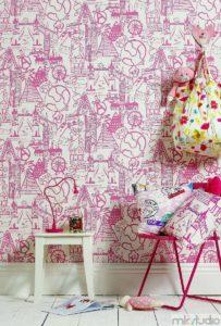Dekoracje pokoju dziecięcego, dekoracje do pokoju dziewczynki, tapety do pokoju dziewczynki, poduszki do pokoju dziewczynki, różowy pokój dla dziewczynki