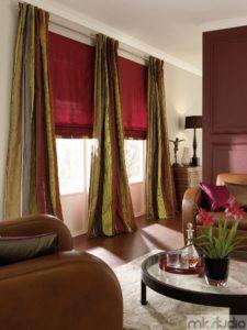 Rolety rzymskie czerwone, zasłony rzymskie czerwone, zasłony rzymskie eleganckie zaciemniające na wymiar do salonu,