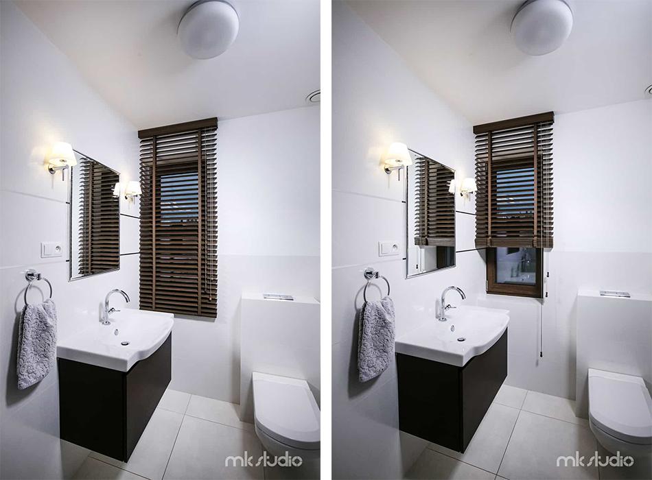 żaluzje Drewniane W łazience